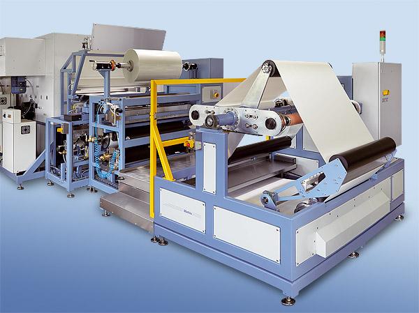 Turret winder allows roll change without production stop