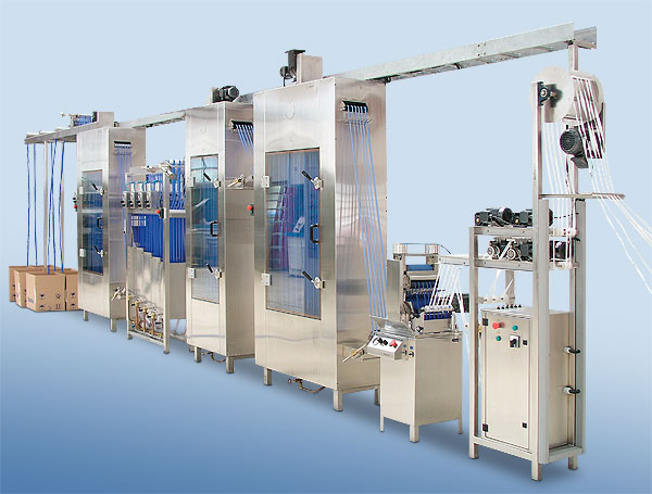 Continuous ribbon dyeing and finishing systems